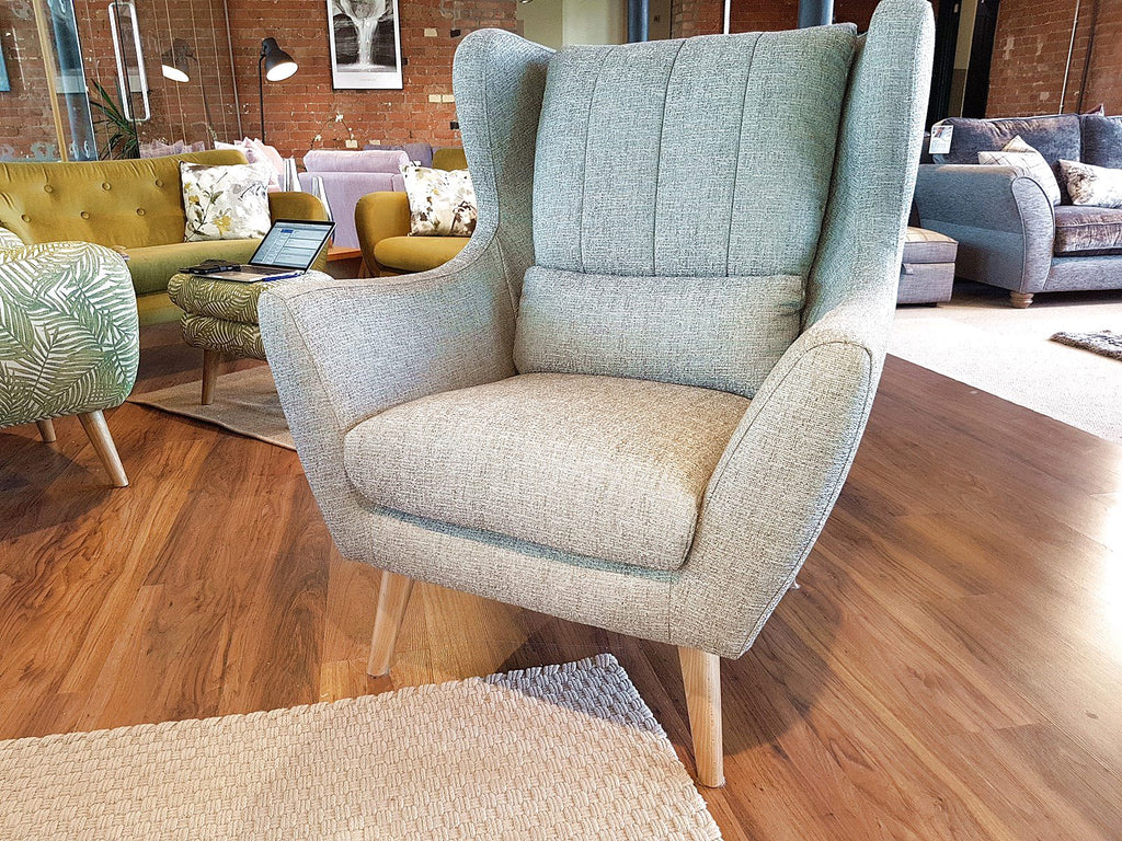Rebel High Wing Back Armchair Mid Century Influenced Design Chairs