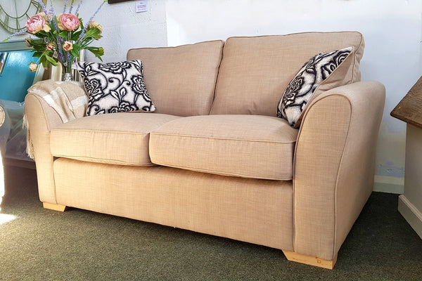 Tyler Sumptuous Neutral Fabric 2 Seater Sofa - Only £399 (Usually £649)
