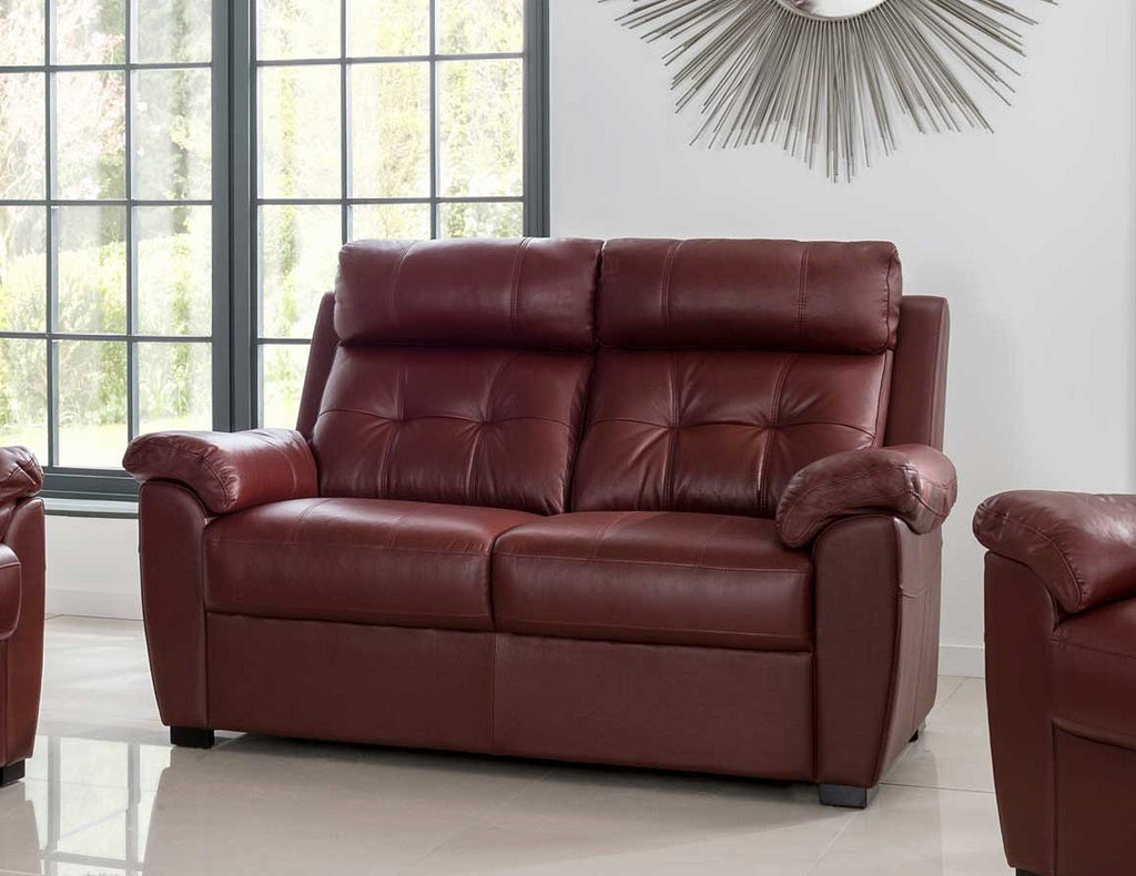Toscano Sumptuous Leather 2 Seater Sofas High Back Sofas