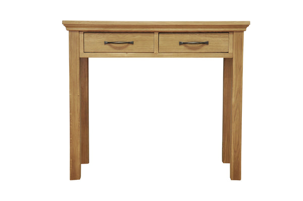 Woburn Premium Oak Dressing Table With 2 Drawers
