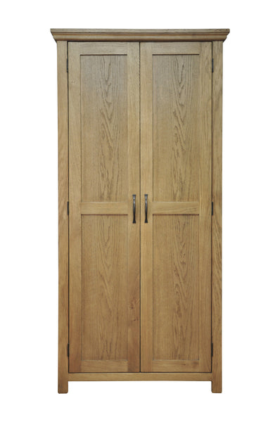 Woburn Premium Oak Full Hanging Double Wardrobe