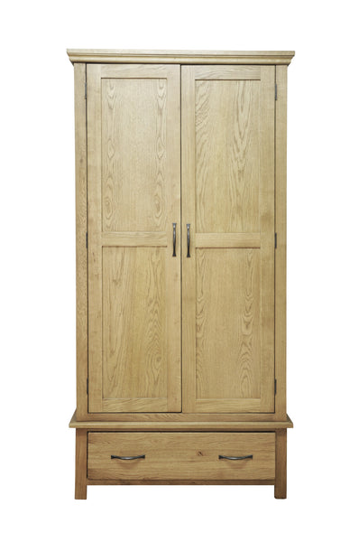 Woburn Premium Oak Gents Wardrobe With Drawer