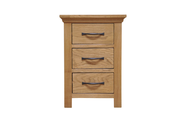 Woburn Premium Oak Large Bedside Chest of 3 Drawers