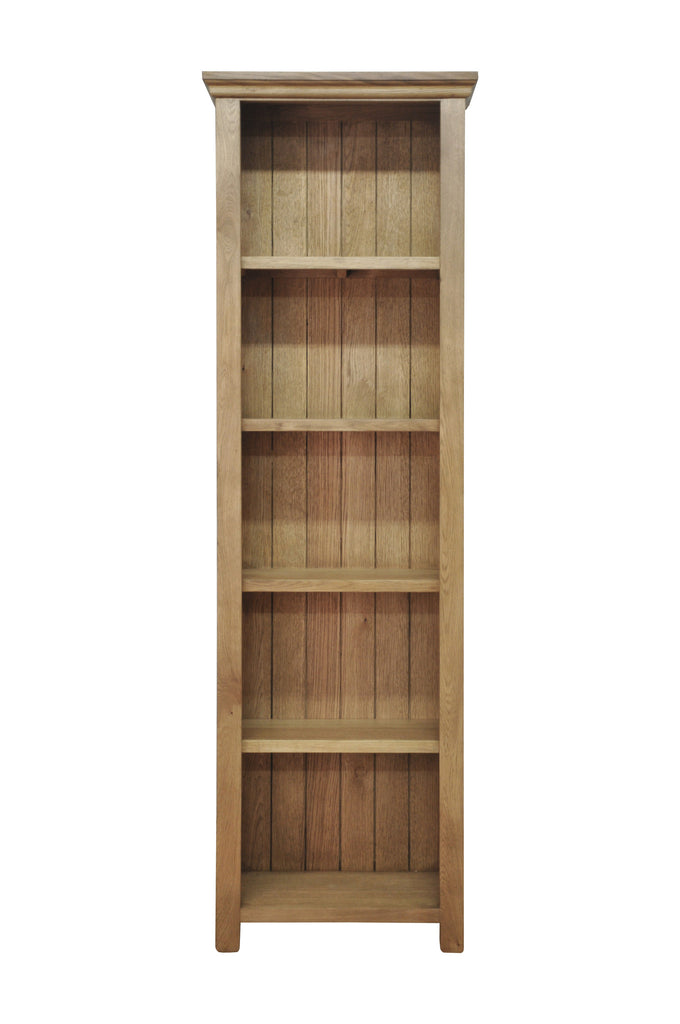 Woburn Premium Oak Large Narrow Bookcase