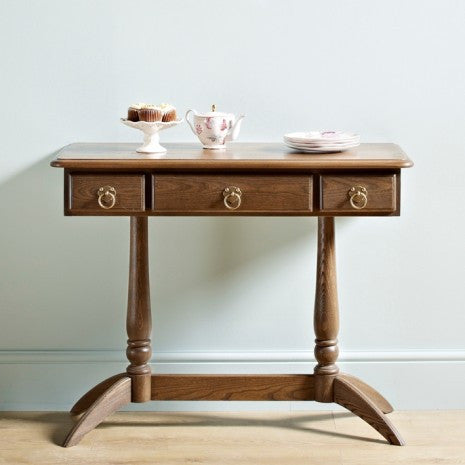 Beautiful Wood Bros Dark Wood Console Table - NOW JUST £129!