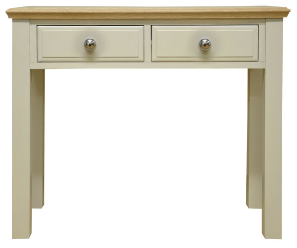 Dijon Country Style Painted & Oak Top Dressing Table Console