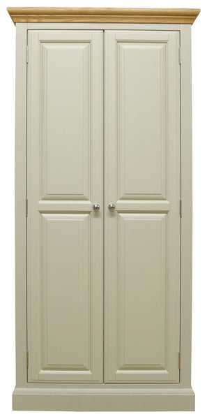 Dijon Country Style Painted & Oak Top Full Hanging Wardrobe