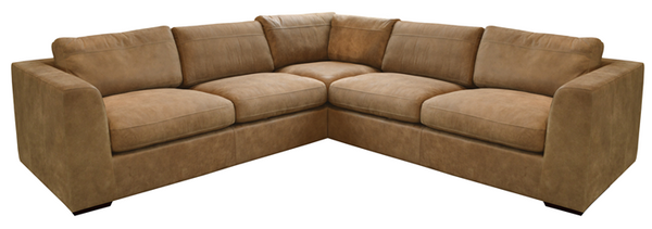 Debenhams Paris Large Tan Medium Corner Sofa - Only £1,999 - RRP £4700!