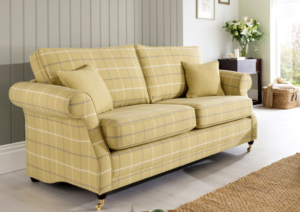 Lochinver 3 Seater Sofa – Sophisticated Country Elegance In Plaid Or Plain Fabrics