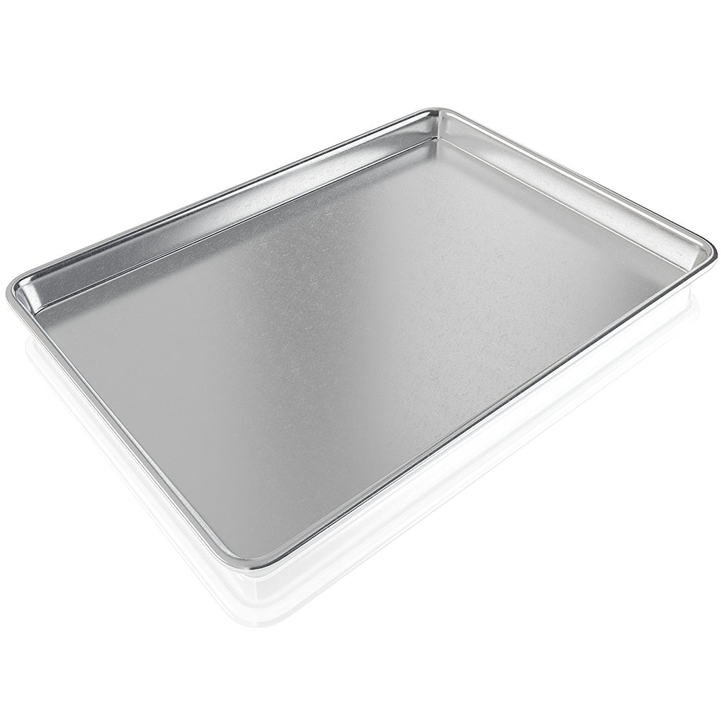 BakeitFun Heavy Duty Aluminum Commercial Half Sheet 13x18 inches | USA Cookie Pan