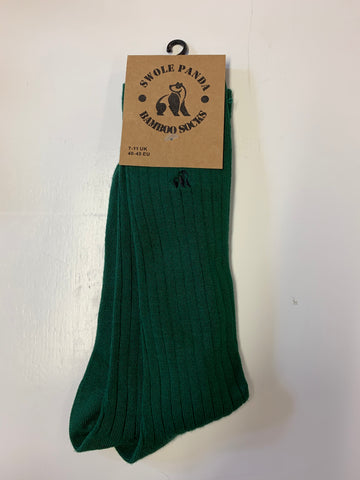 Swole Panda Bamboo Sock Dark Green
