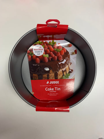 "Judge Round 10"" loose base cake tin"