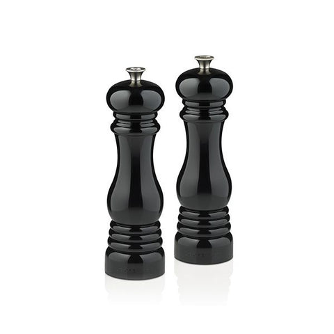 Le Creuset set of 2 salt and pepper mills Black