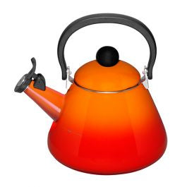 Le Creuset Volcanic Orange Kone kettle