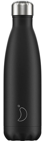 Chilly's Matt Black 500ml Bottle
