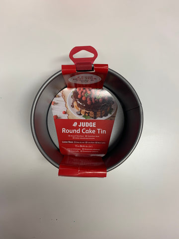 "Judge Round 6"" loose base cake tin"