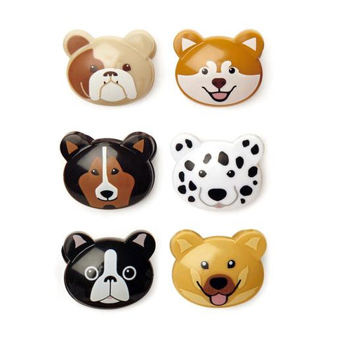 Kikkerland Set of 6  Dog bag clips