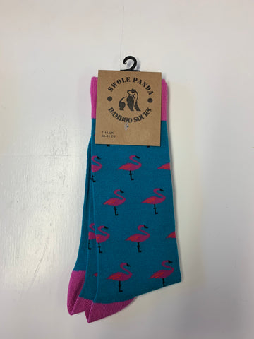Swole Panda Bamboo Sock pink flamingo Pack of 3