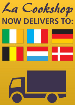 La Cookshop now delivers to Channel Islands, Ireland, France, Germany, Belgium, Netherlands, Luxembourg and Denmark