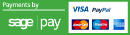 Payments on this site are processed by Sage Pay or PayPal