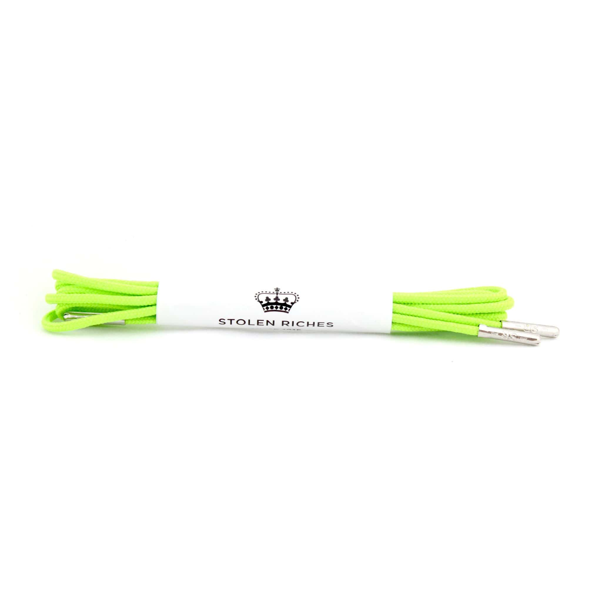 "Neon green laces for dress shoes, Length: 27""/69cm-Stolen Riches"