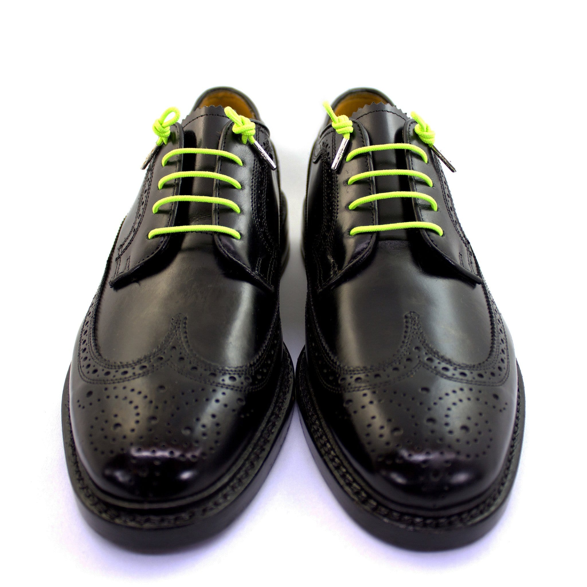 "Neon green laces for dress shoes, Length: 32""/81cm-Stolen Riches"