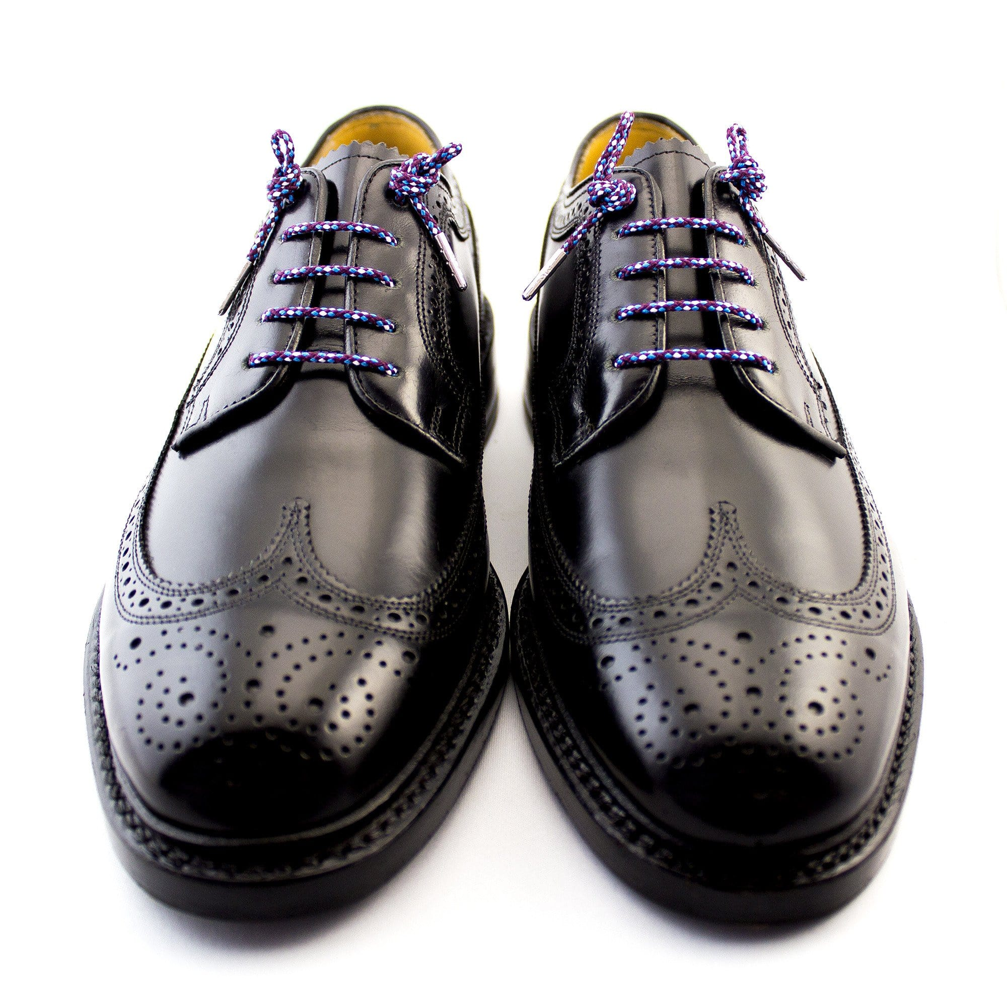 "Blue, white and purple laces for dress shoes, Length: 32""/81cm-Stolen Riches"