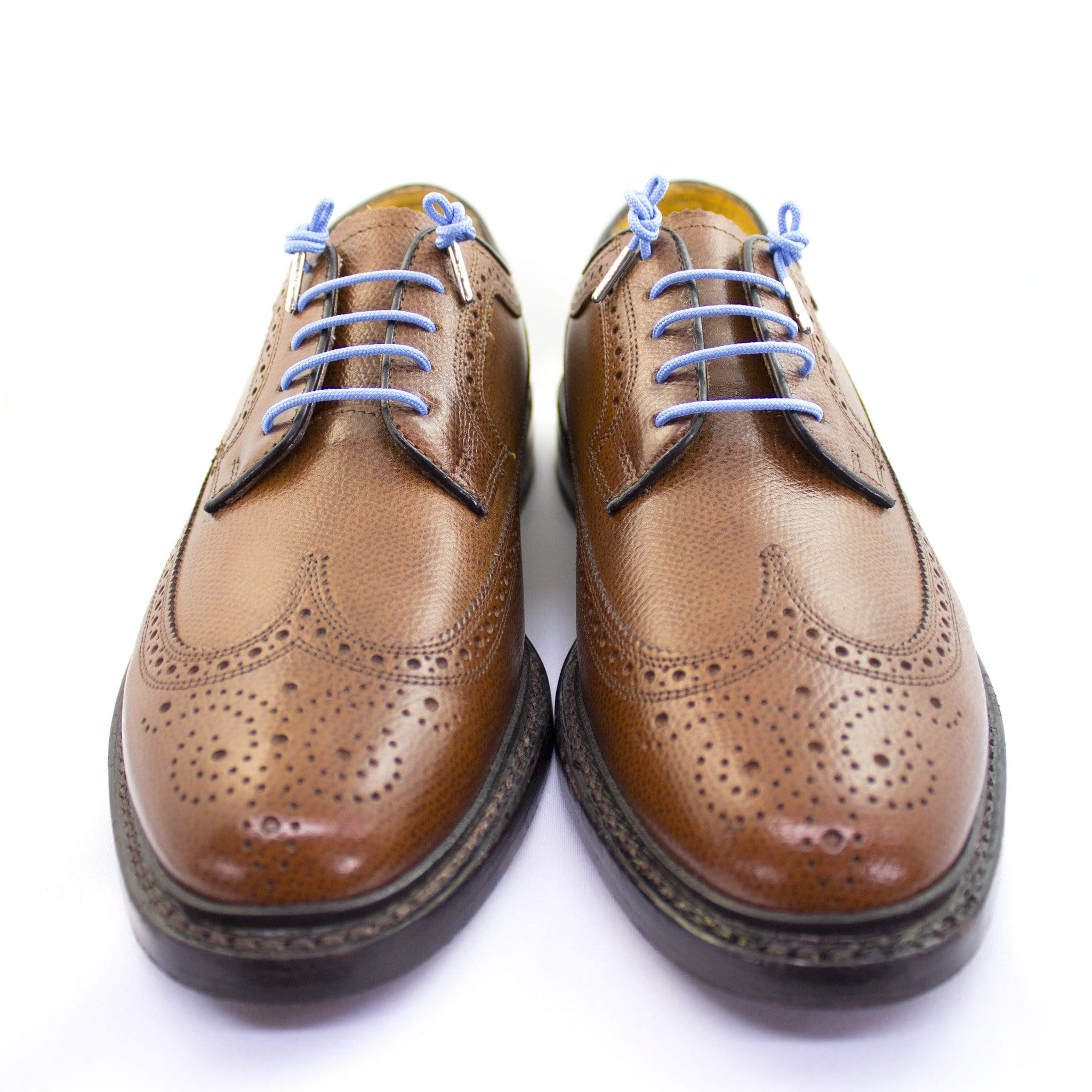 "Light blue laces for dress shoes, Length: 32""/81cm-Stolen Riches"