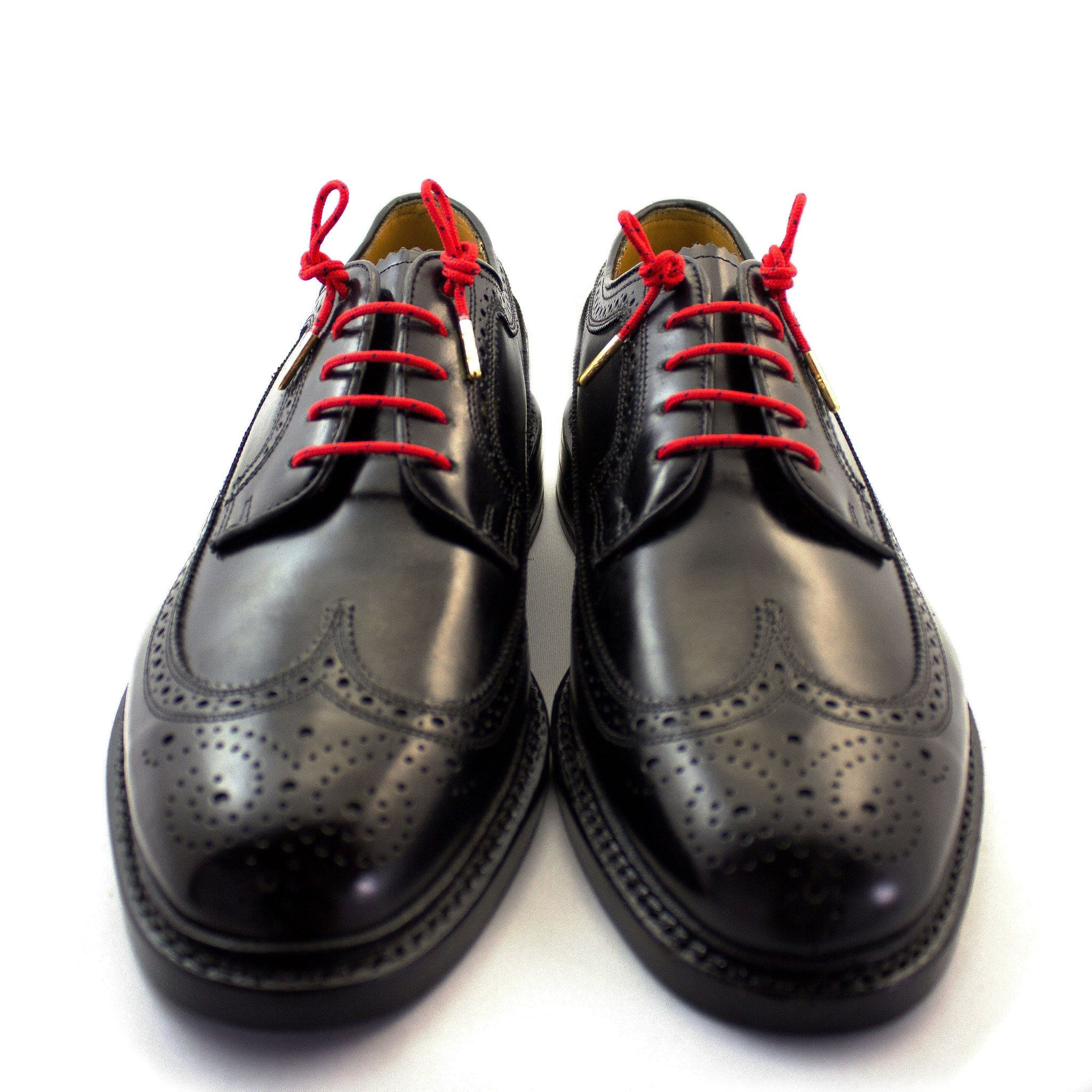"Red and black dots laces for dress shoes, Length: 32""/81cm-Stolen Riches"