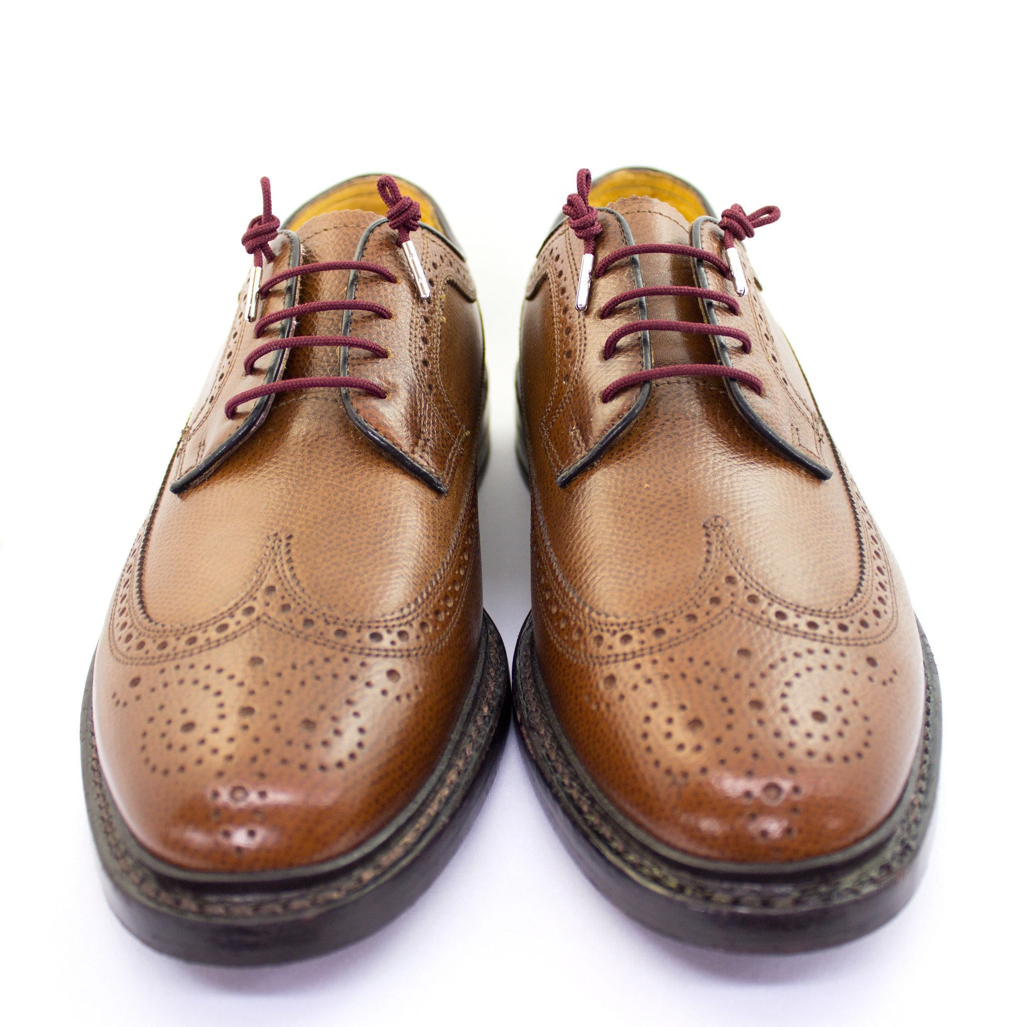 "Burgundy laces for dress shoes, Length: 32""/81cm-Stolen Riches"