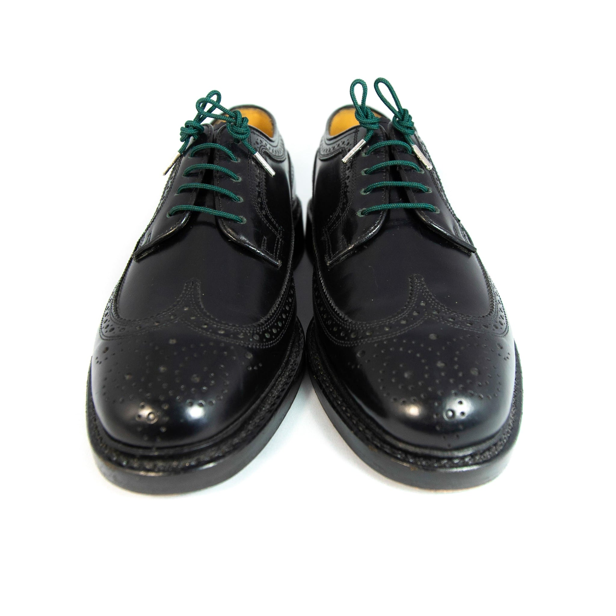"Forest green laces for dress shoes, Length: 27""/69cm-Stolen Riches"