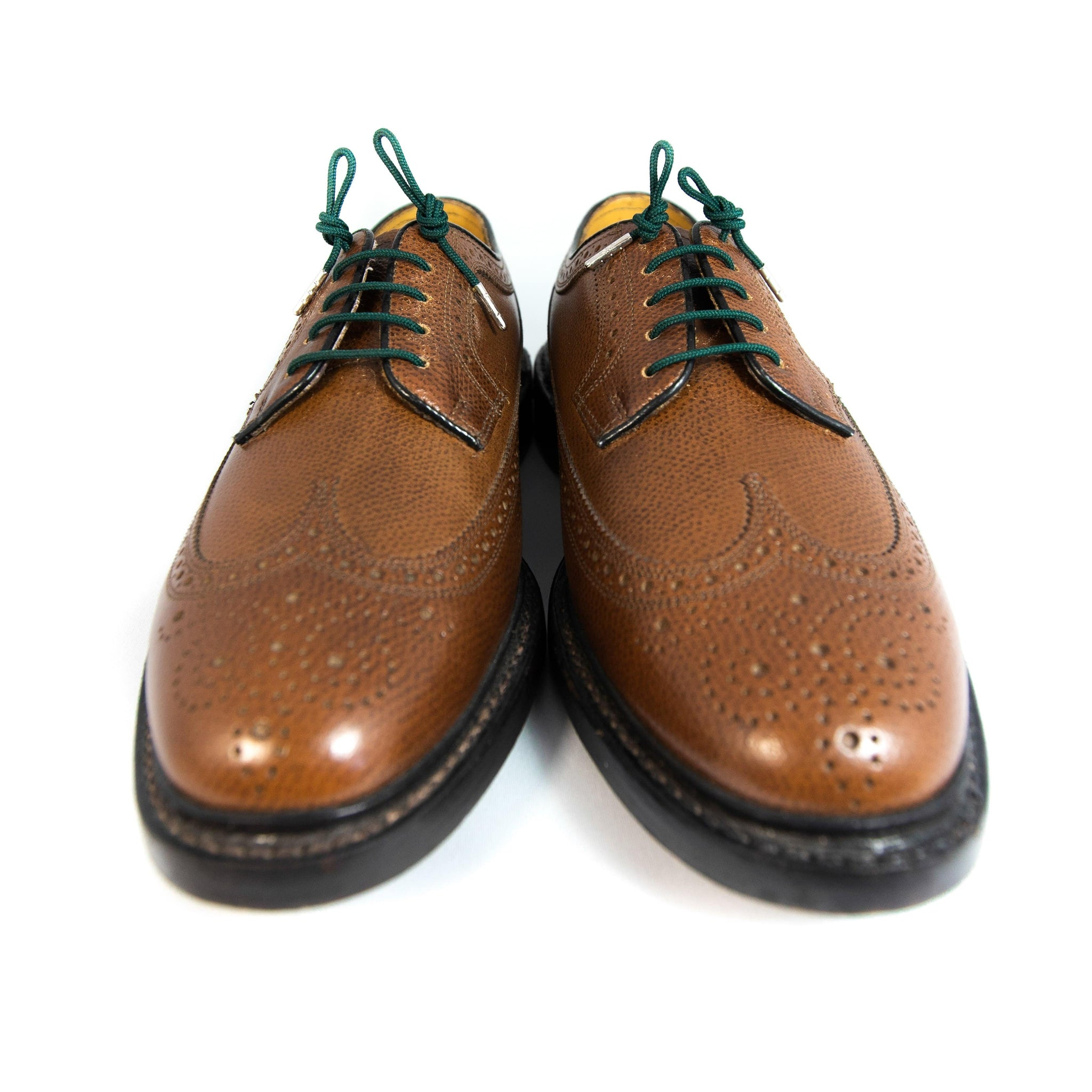 "Forest green laces for dress shoes, Length: 32""/81cm-Stolen Riches"