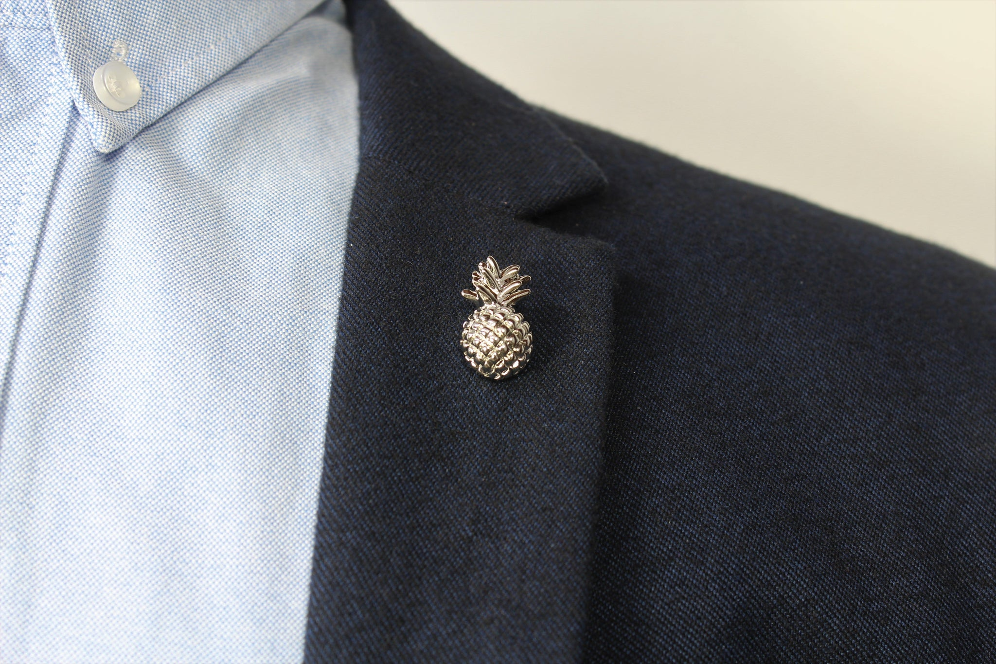 Pineapple Lapel Pin on blazer - Stolen Riches