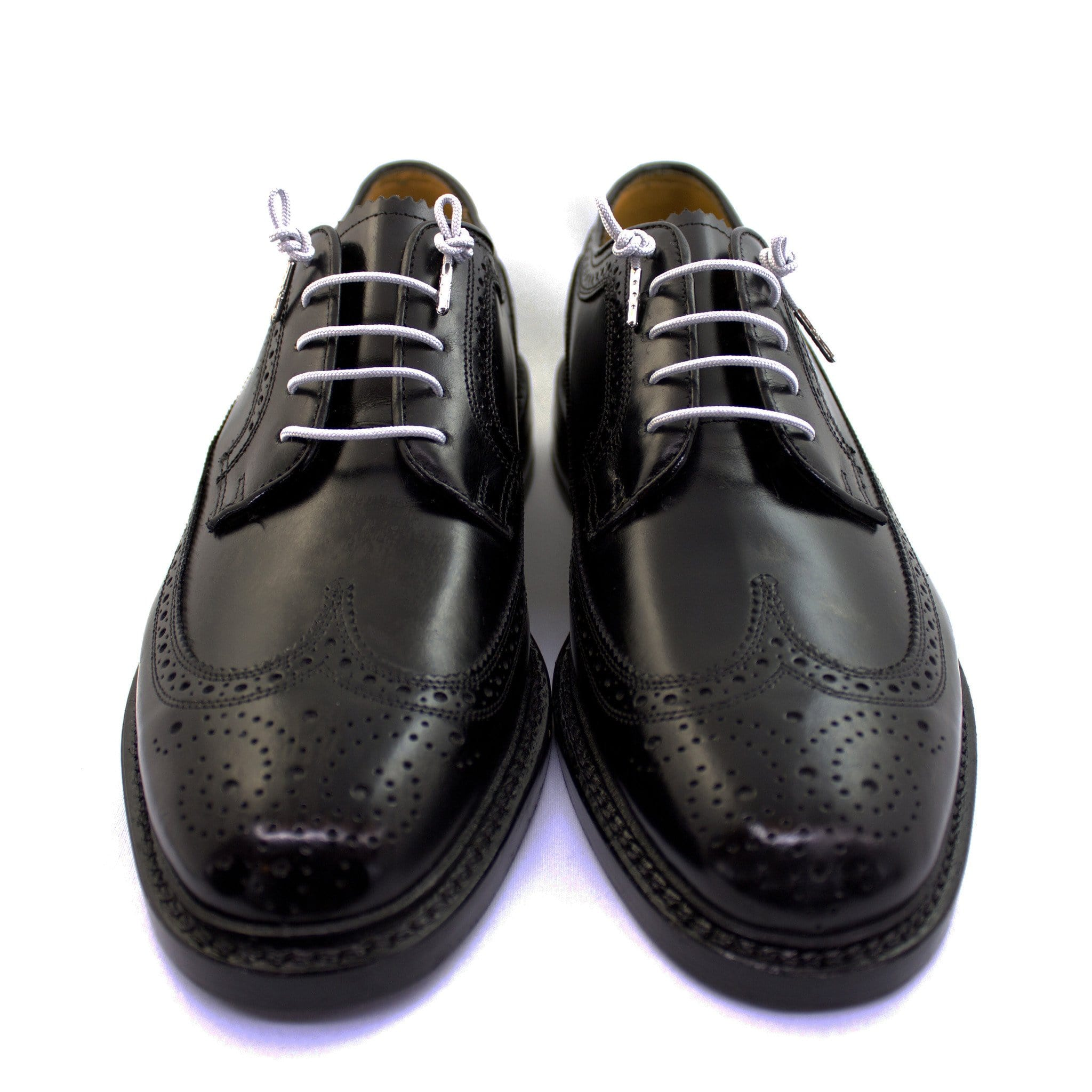 "Light gray laces for dress shoes, Length: 32""/81cm-Stolen Riches"