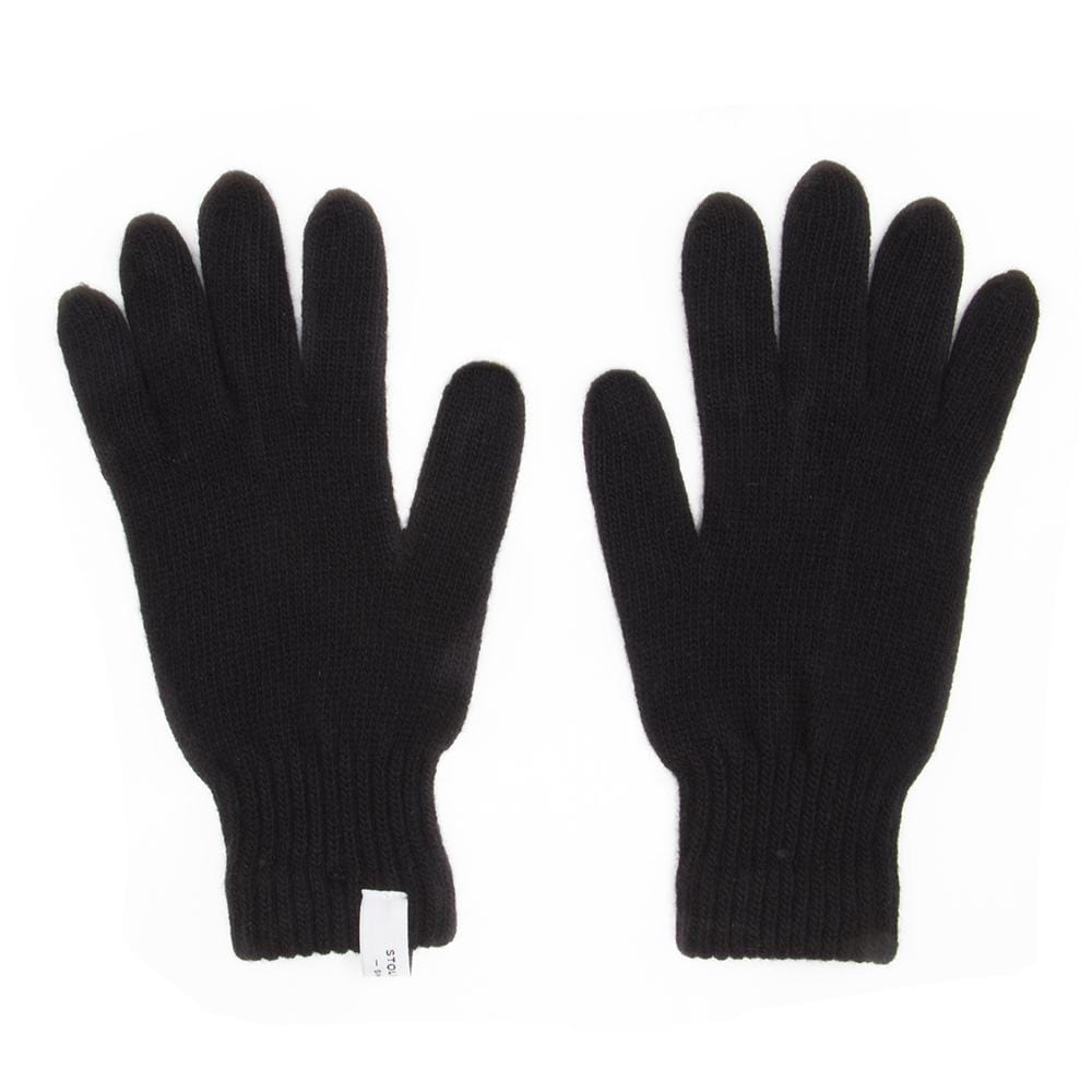 Folsom Black Wool Gloves - Stolen Riches