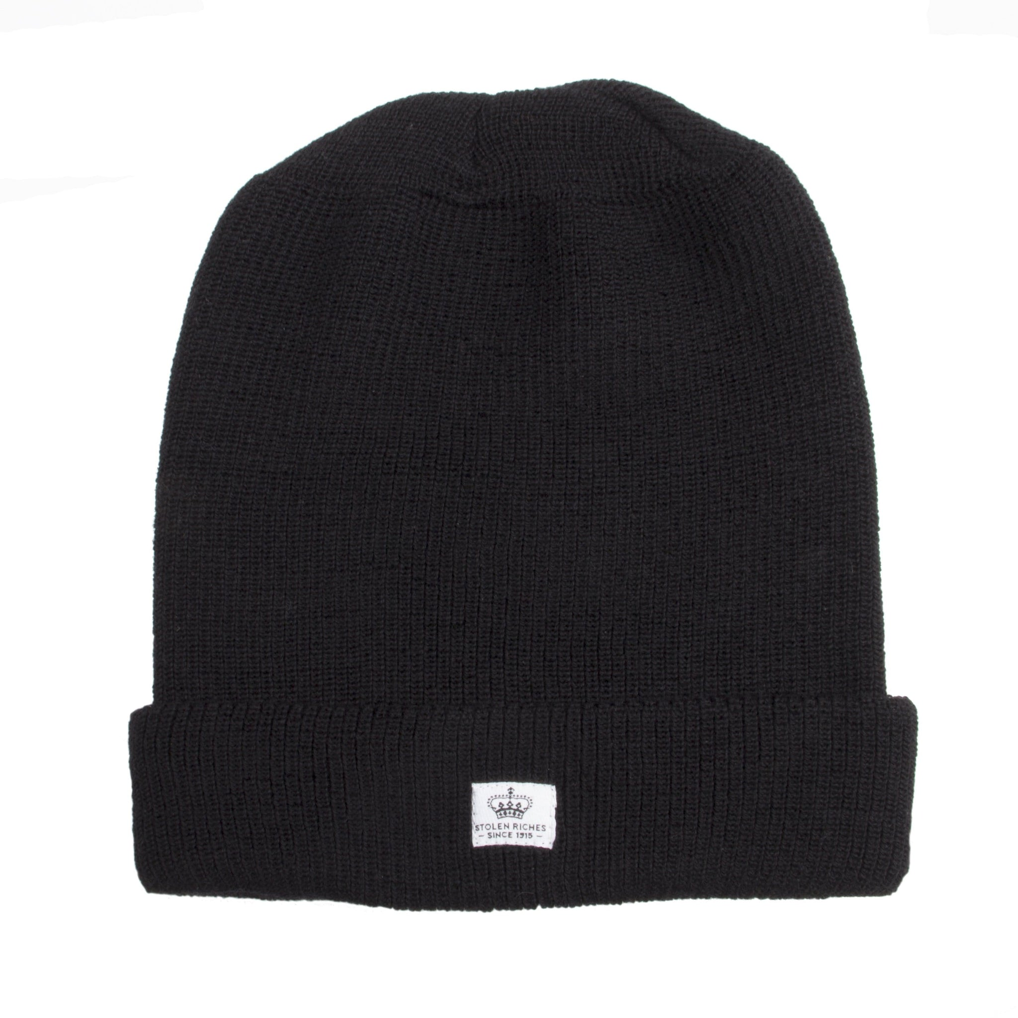 Folsom Black Wool Toque - Stolen Riches