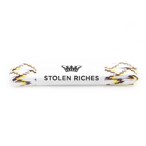 "White wave laces for sneakers (Length: 45""/114cm) - Stolen Riches"