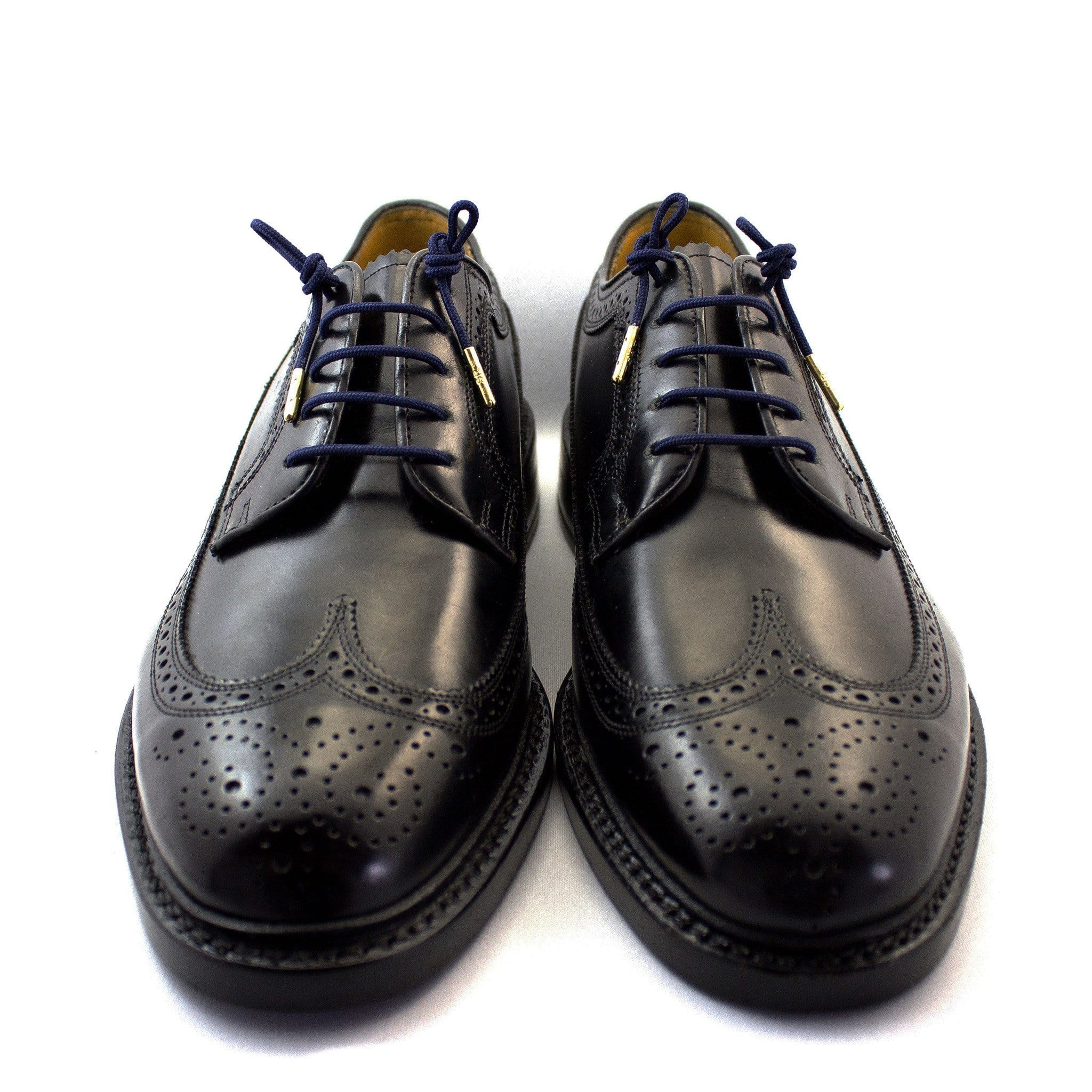"Navy blue laces for dress shoes, Length: 27""/69cm-Stolen Riches"