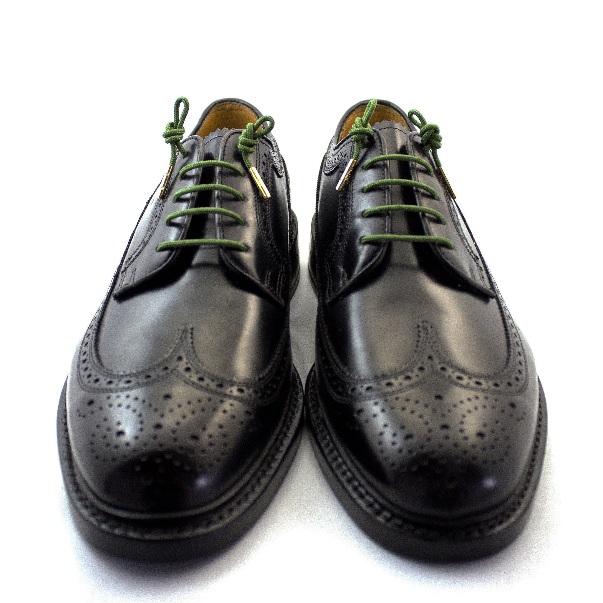 "Army green laces for dress shoes, Length: 27""/69cm-Stolen Riches"