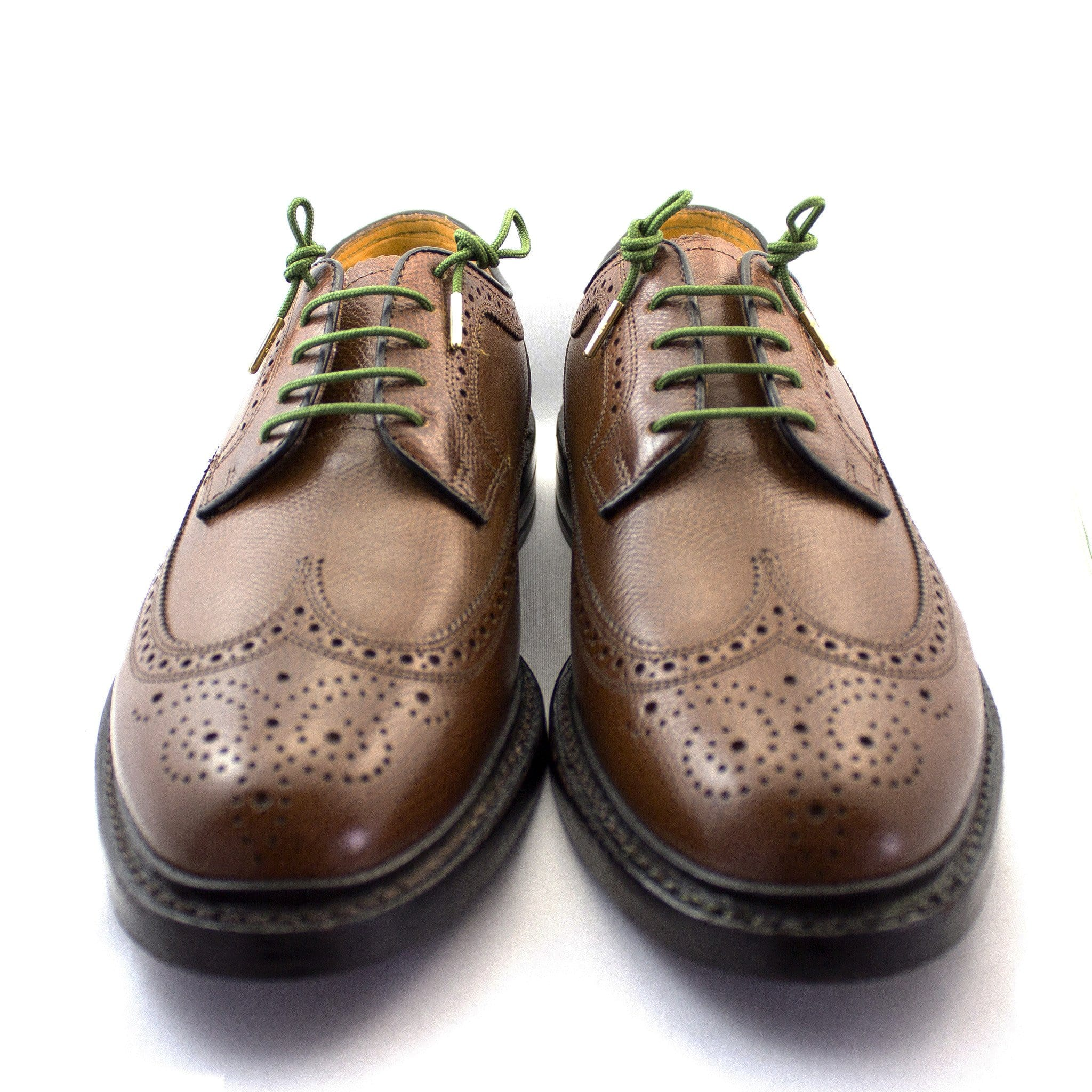 "Army green laces for dress shoes, Length: 32""/81cm-Stolen Riches"