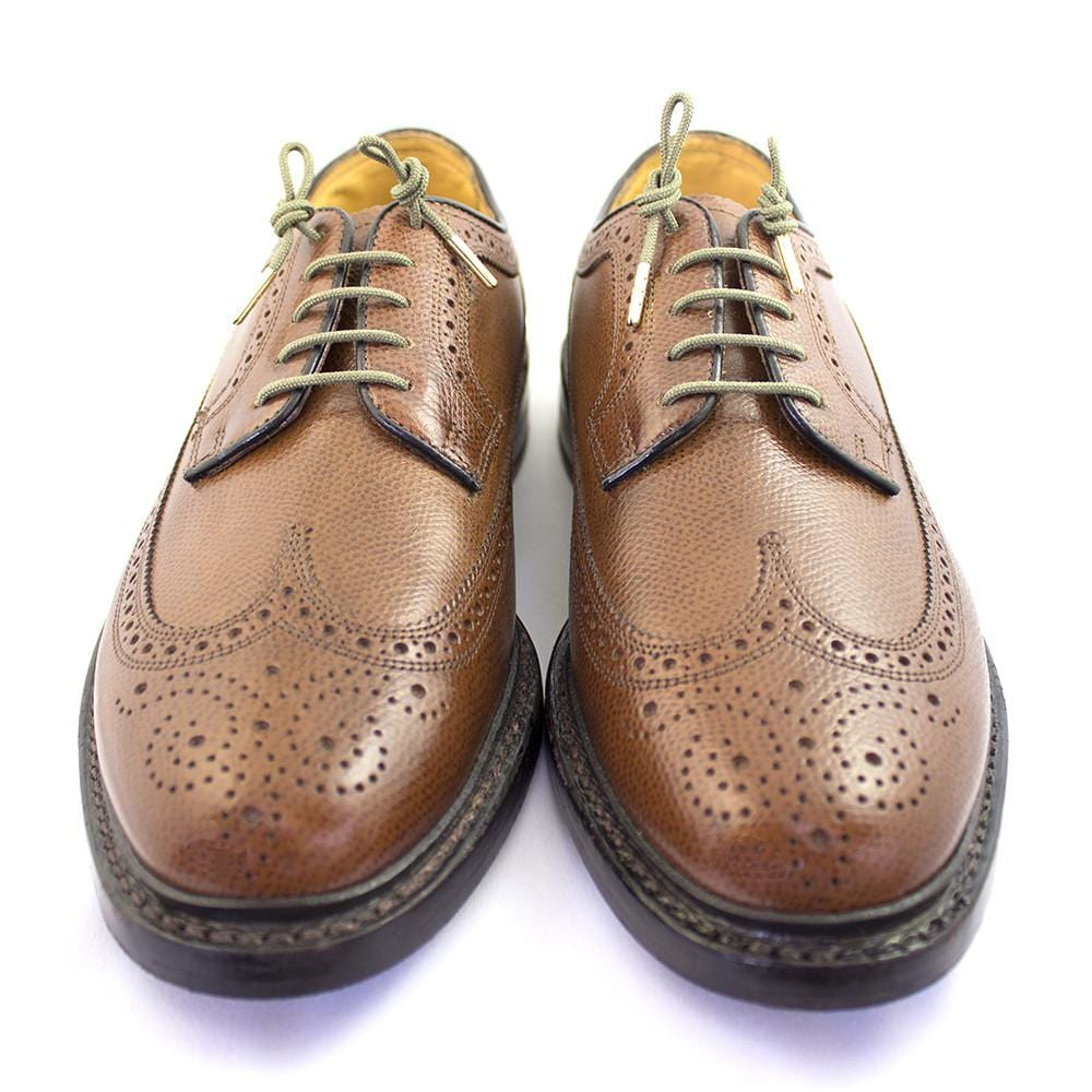 "Olive green laces for dress shoes, Length: 32""/81cm-Stolen Riches"