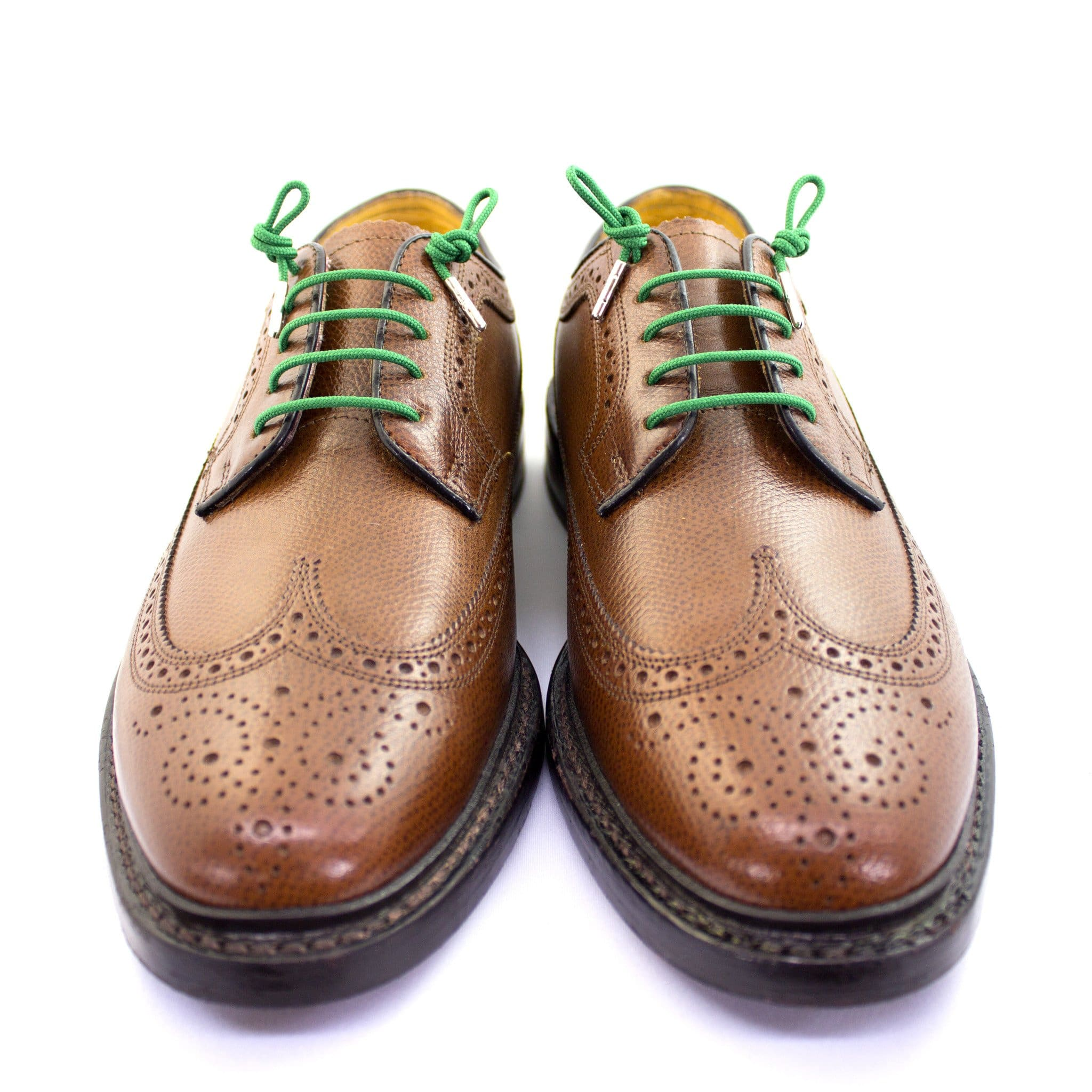 "Emerald green laces for dress shoes, Length: 27""/69cm-Stolen Riches"