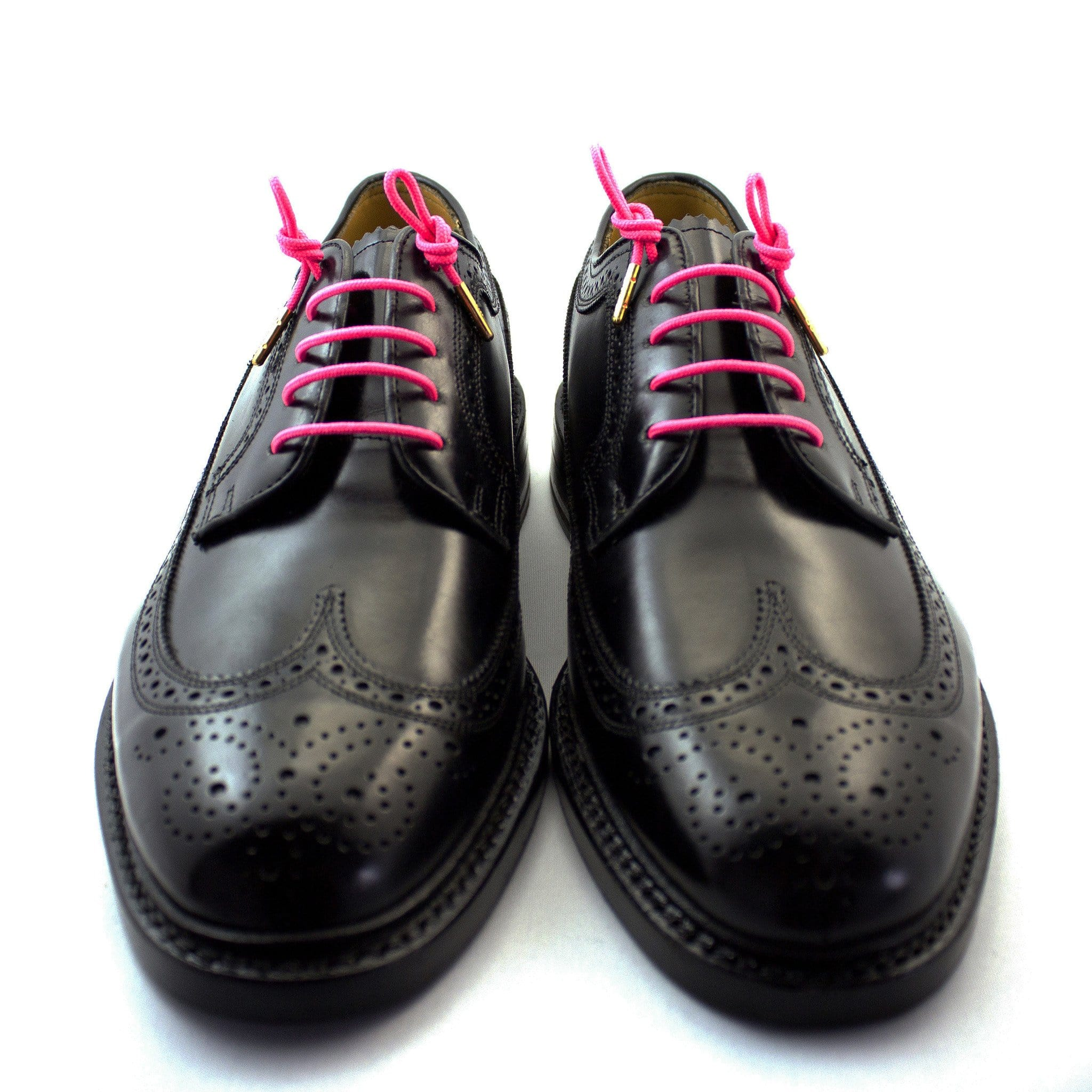 "Neon pink laces for dress shoes, Length: 32""/81cm-Stolen Riches"