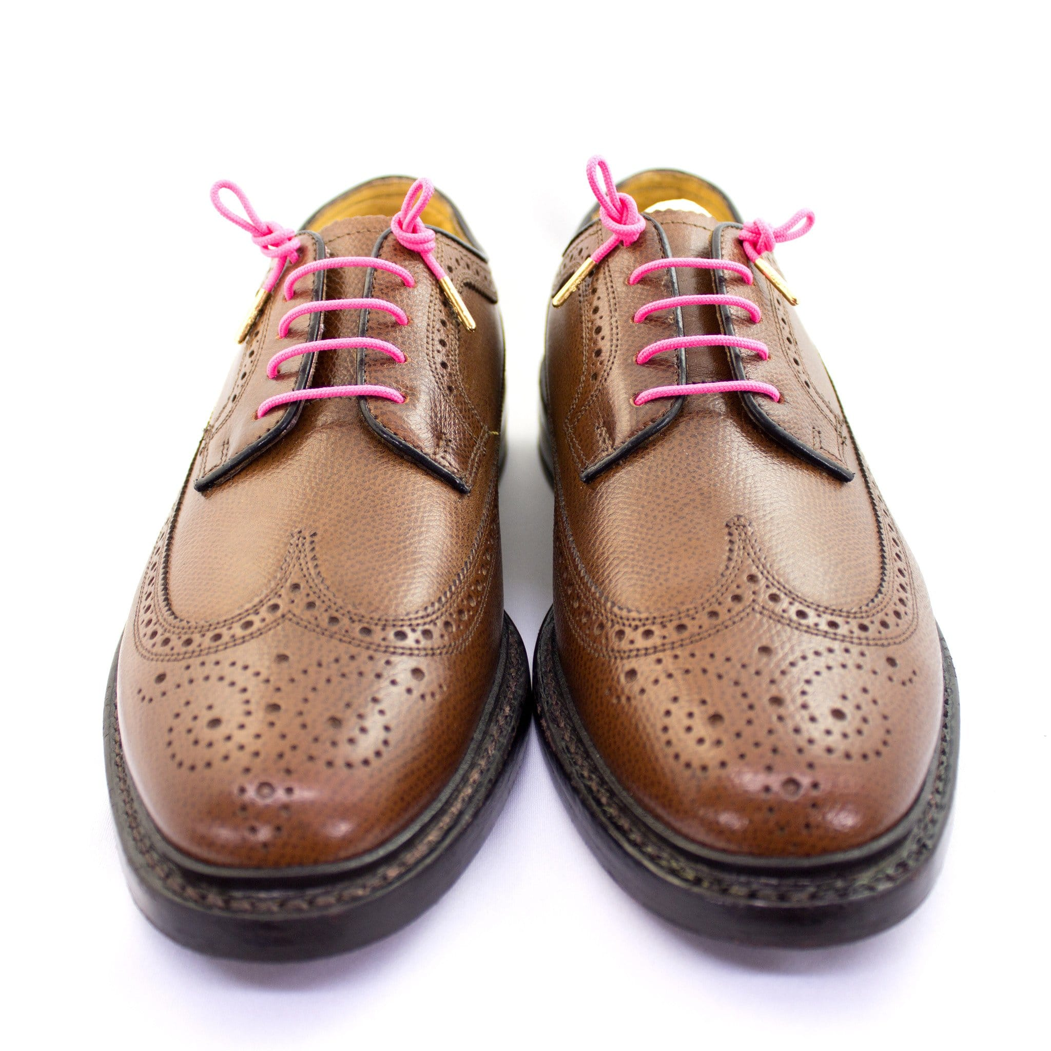 "Neon pink laces for dress shoes, Length: 27""/69cm-Stolen Riches"