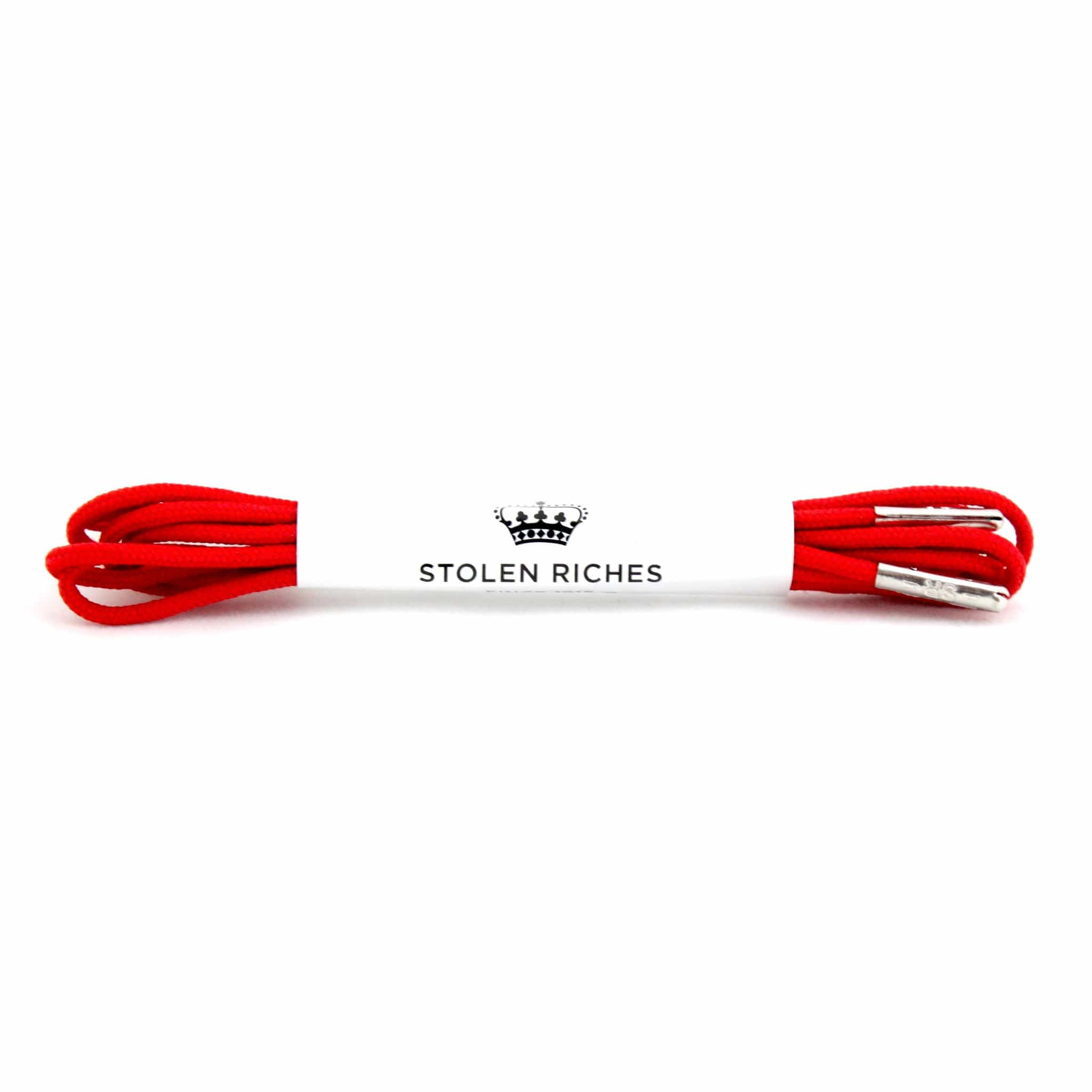 "Bright red laces for dress shoes, Length: 27""/69cm-Stolen Riches"