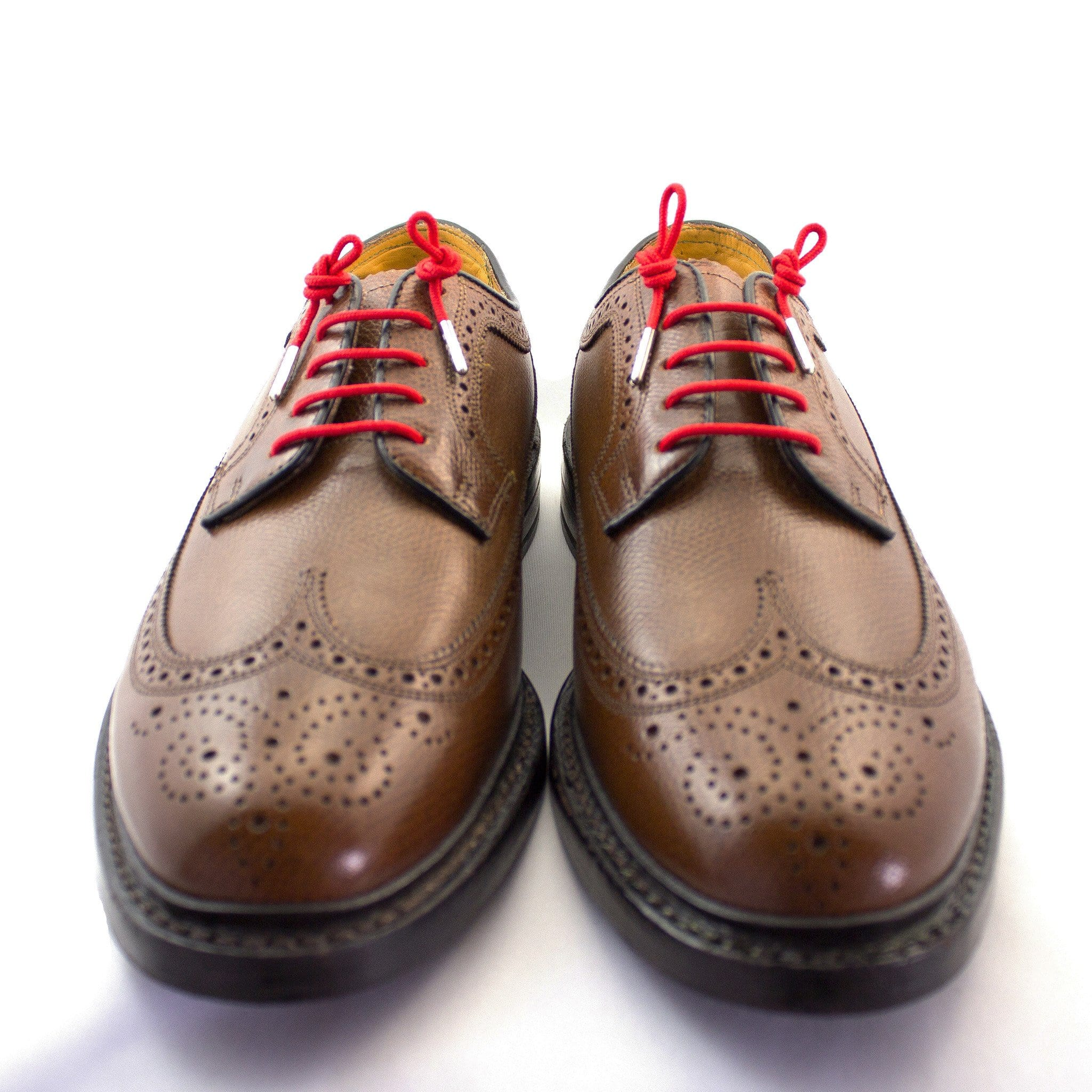 "Bright red laces for dress shoes, Length: 32""/81cm-Stolen Riches"