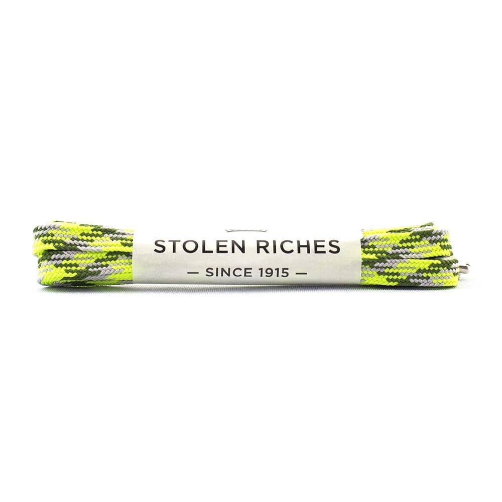 "Camo green laces for sneakers (Length: 45""/114cm) - Stolen Riches"