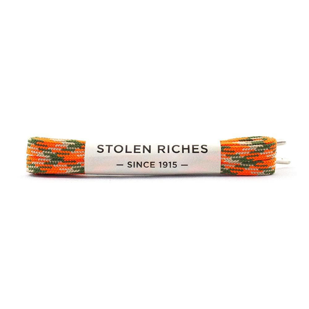 "Camo orange laces for sneakers (Length: 45""/114cm) - Stolen Riches"