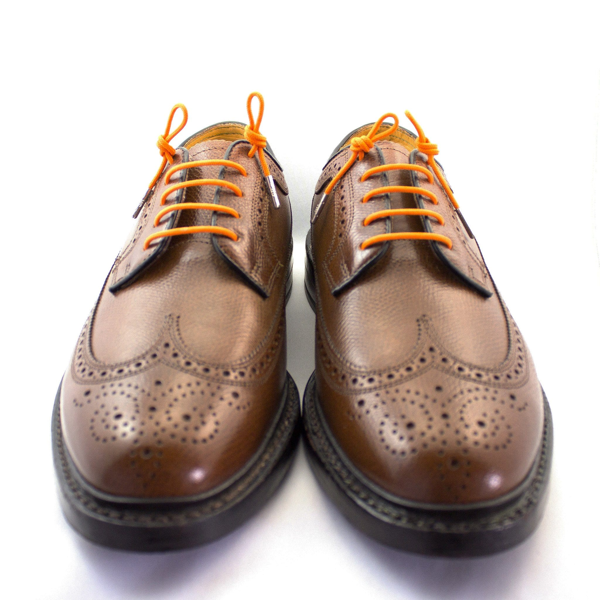 "Bright orange laces for dress shoes, Length: 32""/81cm-Stolen Riches"