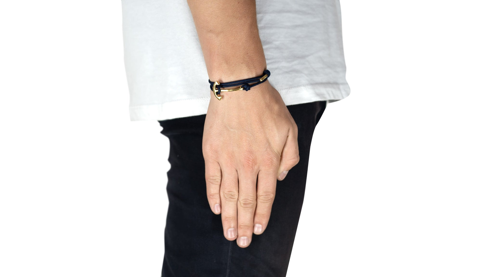 Adjustable anchor bracelet, gold-Wrist Wear-Stolen Riches / CA